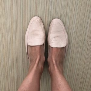 UO Light pink loafer flats